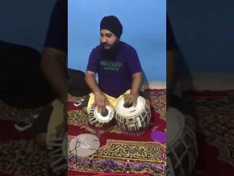 Bhai Gurjinder singh ji Raajan playing tabla