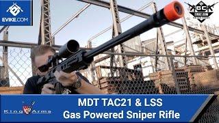 King Arms MDT TAC21 & LSS Gas Powered Sniper Rifle [The Gun Corner] - Airsoft Evike.com
