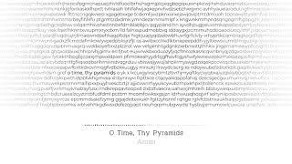 O Time, Thy Pyramids - AMMI Piano Works