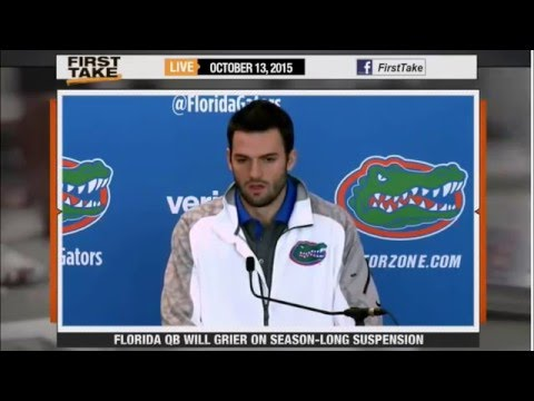 ESPN First Take   Florida QB Will Grier Suspended After PEDs Test