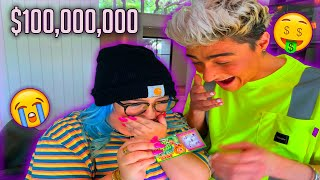 FAKE LOTTERY TICKET ON BOYFRIEND!! (BEST REACTION EVER)