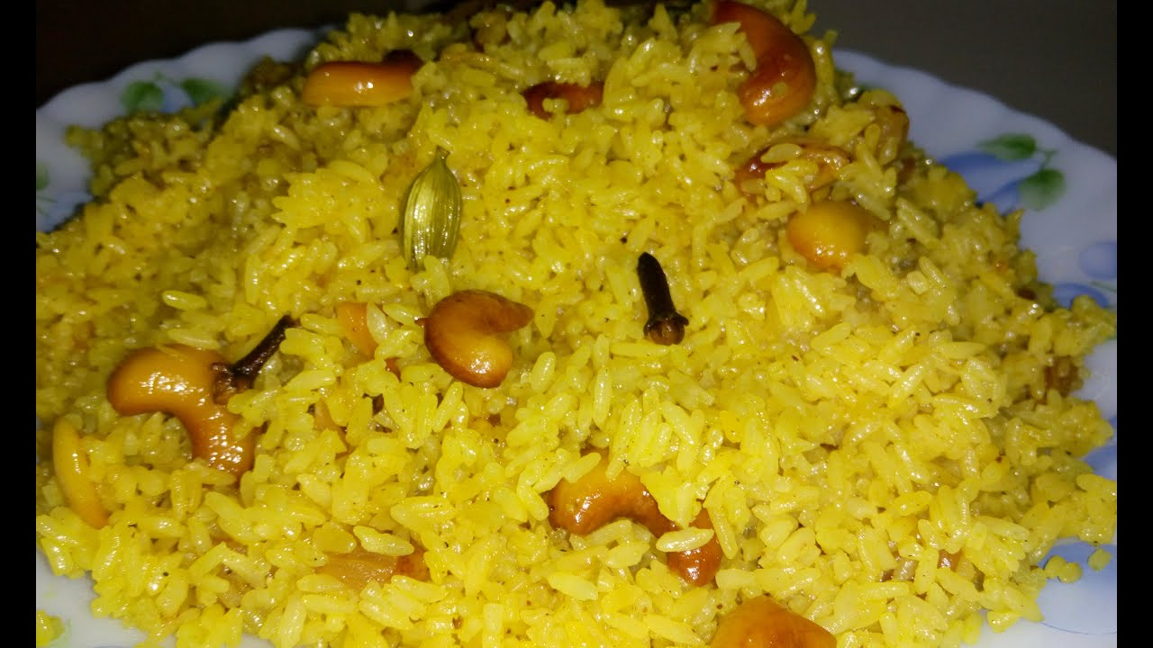 Bengali basanti pulao recipe sweet yellow rice recipe youtube forumfinder Gallery
