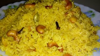 Bengali Basanti Pulao Recipe | Sweet Yellow Rice Recipe