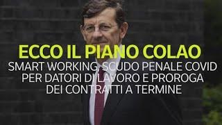 Il piano Colao: smart working, scudo penale Covid per datori di lavoro e proroga dei contratti a...