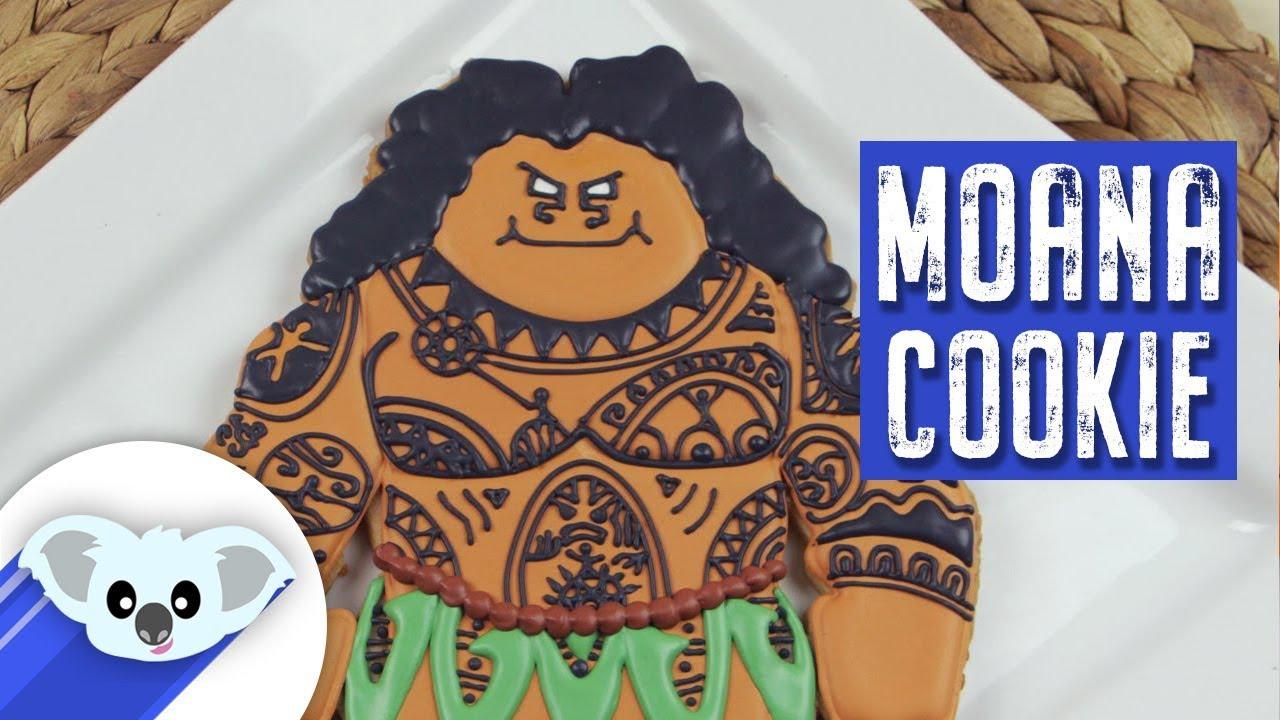 Maui Cookies Moana Disney Princess How To YouTube - Maui birthday cakes