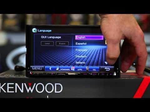 How to use the language setup on Kenwood's DDX9902S  multimedia radio