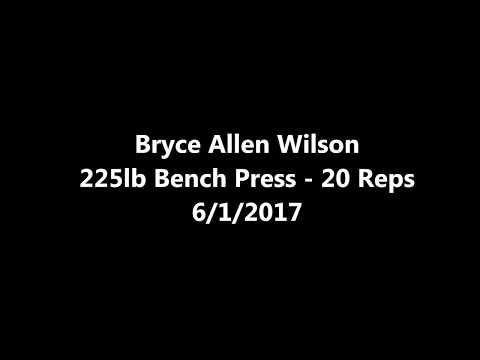 Bryce Allen Wilson - 225lb Bench Press 20 Reps 6/1/17 - West Hancock Titans RB - Class of 2019