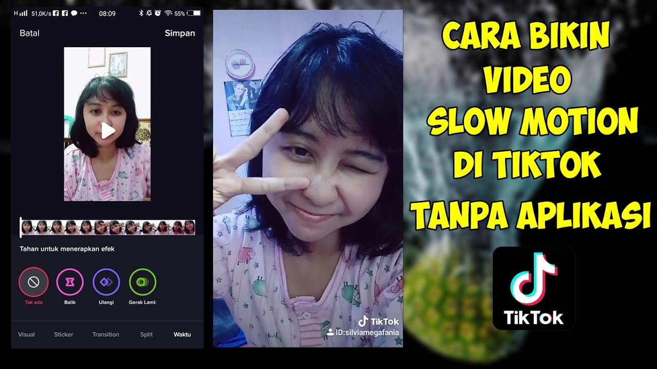 Cara Edit Video Slow Motion Di Tiktok Youtube
