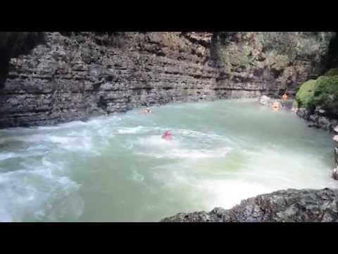 Body Rafting at Green Canyon Batu Karas