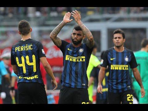 Gabriel Barbosa (Gabigol) debut for Inter Milan vs Bologna 25/9 ...