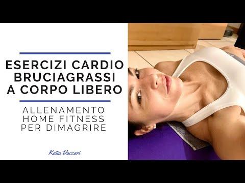 ESERCIZI CARDIO BRUCIAGRASSI A CORPO LIBERO: allenamento home fitness per dimagrire