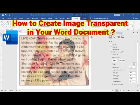 How to Make an Image Transparent in Microsoft Word 2016 | KB TECH