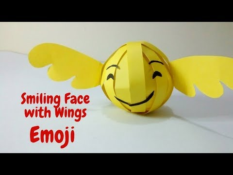 DIY Paper Crafts Emoji | 👼 How To Make Smiling Face With Wings Emoji With A Paper | Angel Emoji