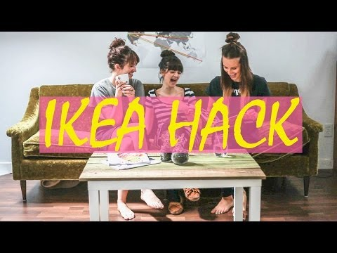 Ikea Hack Tutorial // Lack Coffee Table DIY using reclaimed wood