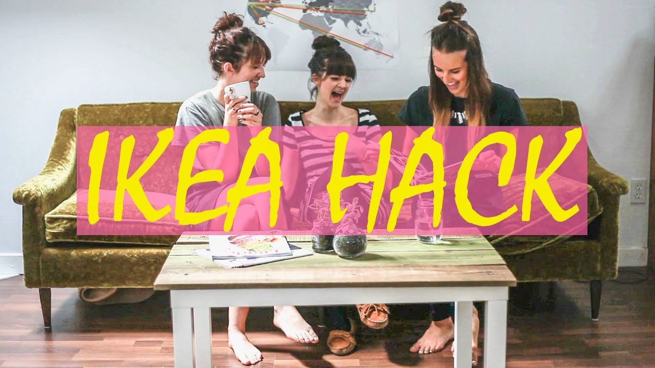 Ikea Hack Tutorial Lack Coffee Table DIY using reclaimed wood