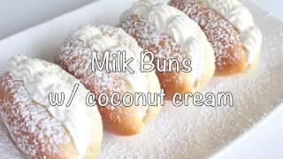 Milk Buns with Coconut Cream