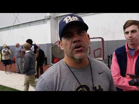 Pitt defensive line coach Charlie Partridge