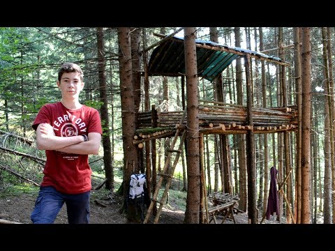 The TREEHOUSE- Build in one video Bushcraftcamp Episode 5