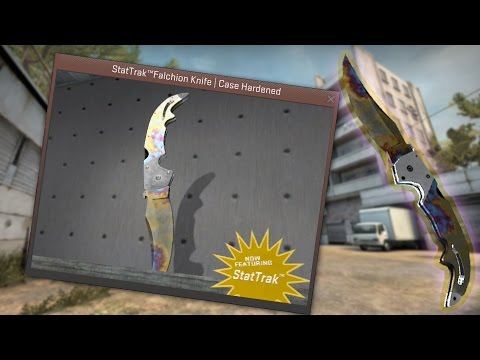 ★ StatTrak™ Falchion Knife | Case Hardened | In-Game Preview