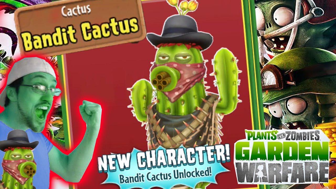 BANDIT CACTUS Unlocked! Quick Needles In Cactus Canyon (Plants Vs. Zombies  Garden Warfare Gameplay)   YouTube