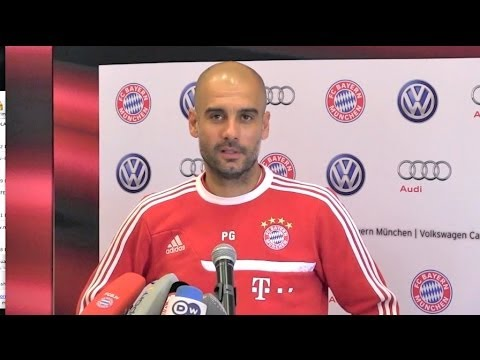 Pep Guardiola interview about Franck Ribery and tha Ballon d'Or - ENGLISH and GERMAN