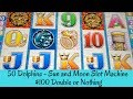 50 DOLPHINS - SUN and MOON SLOT MACHINE - $100 DOUBLE or NOTHING - SunFlower Slots