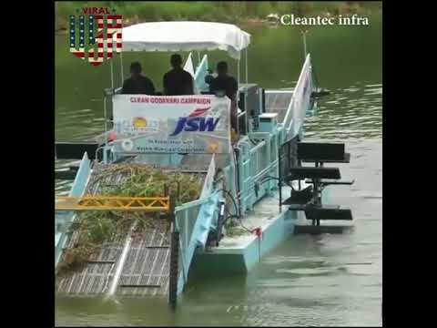 Cleantec Infra Trash Skimmer For River Cleaning Viral In Usa