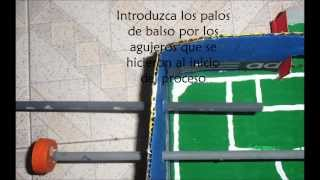 Juguete de Materiales Reciclables (Futbolito) / Toy made from recycled materials (Table Soccer)