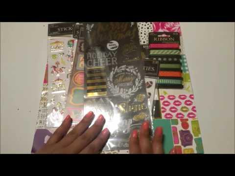 Hobby Lobby Scrapbook/Sticker haul   50% off Paper Studio