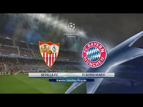 Sevilla vs Bayern de Munich | Cuartos de Final Champions League (03/04/2018) | PES 2018