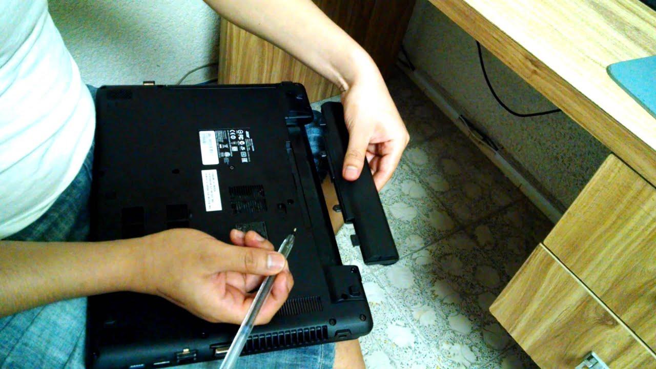 Acer Aspire E14 E15 Remove Baterry Slide The Bu Youtube