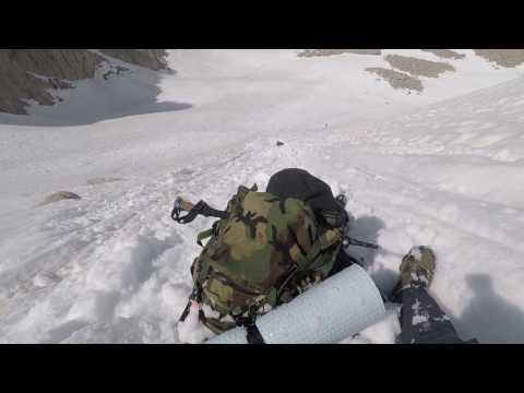Mt Whitney 1000ft drop riding an avalanche