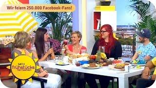 Wir feiern 250.000 Facebook Fans! (mit Special-Auftritt von Alex Diehl) | SAT.1 Frühstücksfernsehen