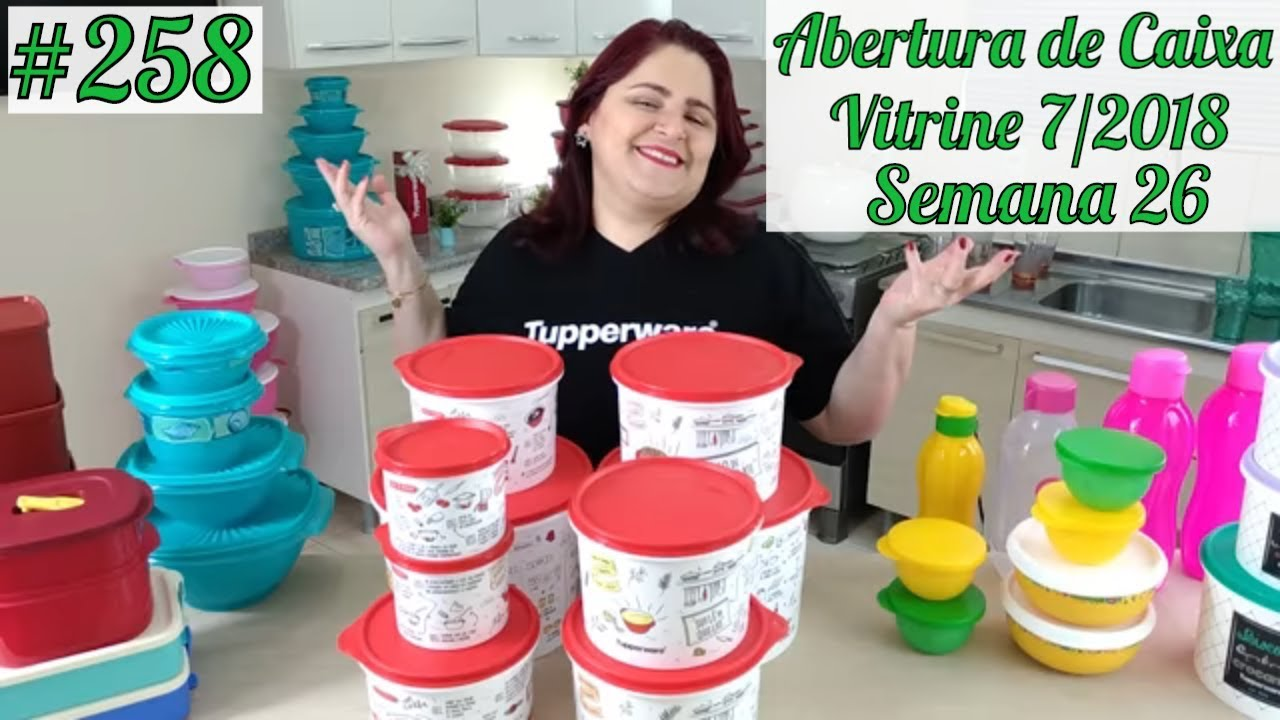 Abrindo Caixa Tupperware Semana 29 Vitrine 8 19 Youtube