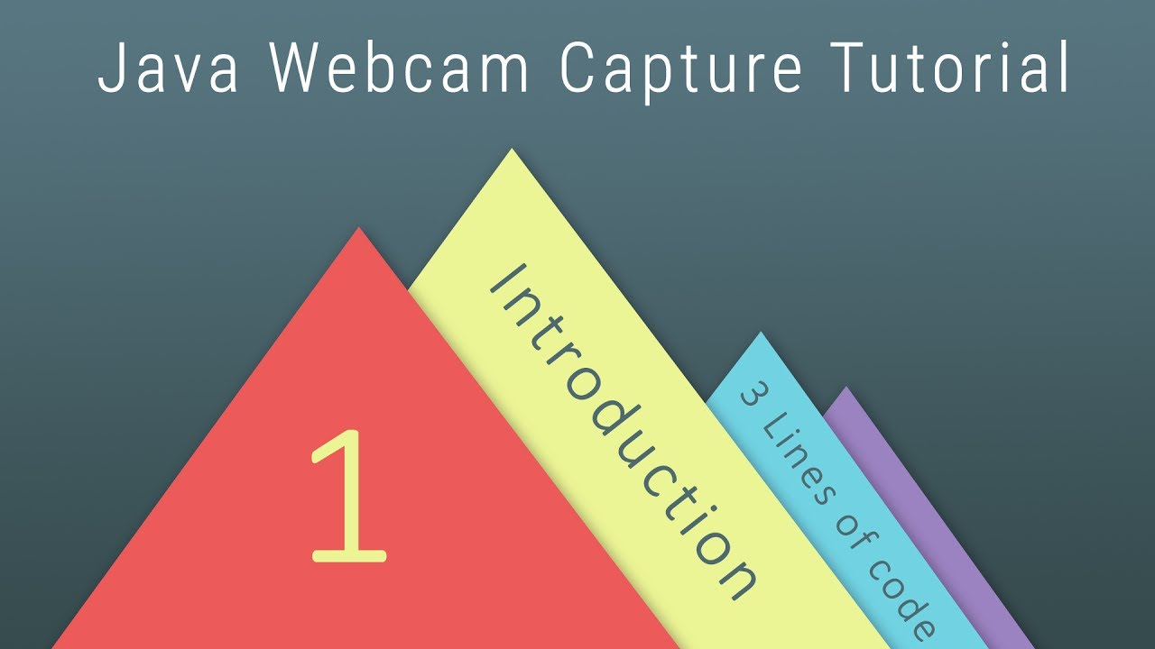 Java Webcam Capture For Beginners 1 Introduction And Capture Webcam Image With 3 Lines Of Code Youtube