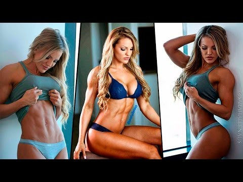 IFBB Bikini Pro SARAH ALLEN  BOOTY Workout, SpineThighsLegs Exercises, Abs Defined and Toned!