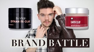 By Vilain Dynamite Clay vs. Salon Guy Earth Clay | Brand Battle