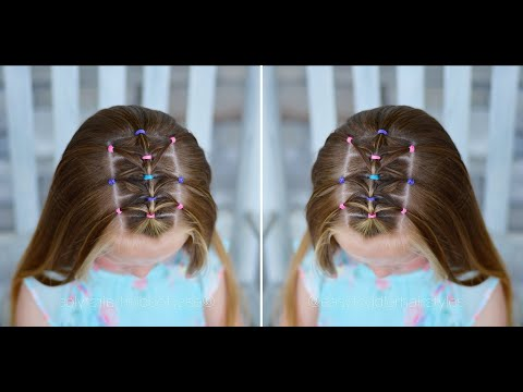 Feathered Triangle Elastic Hairstyle thumbnail