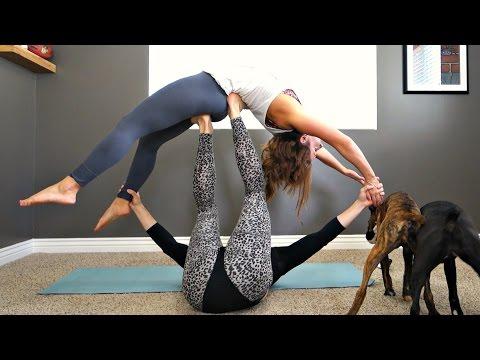 RECREATING CUTE COUPLE POSES w/ Husband 😲😂 Couples Acro Yoga Challenge!