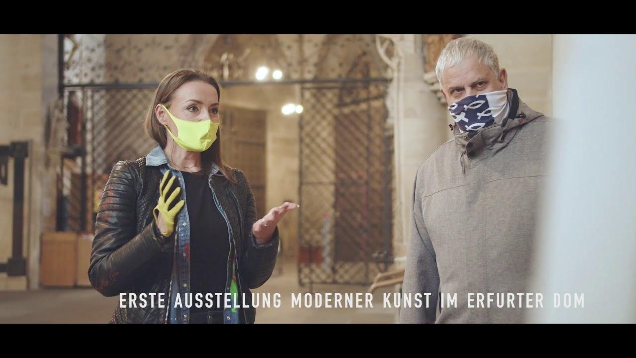 """Kunst im Dom Erfurt, Tina Reichel mit """"LAUT"""""""