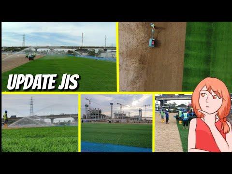 GELARRR TERUS! Update JIS! Progres Pemasangan Rumput Hybrid Pada Lapangan Latih II