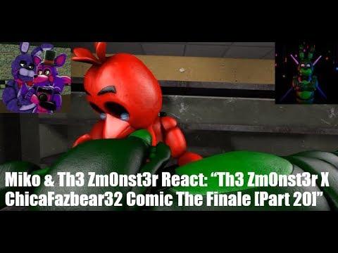 "Miko & Th3 Zm0nst3r React: ""Th3 Zm0nst3r X ChicaFazbear32 Comic The Finale [Part 20]"""