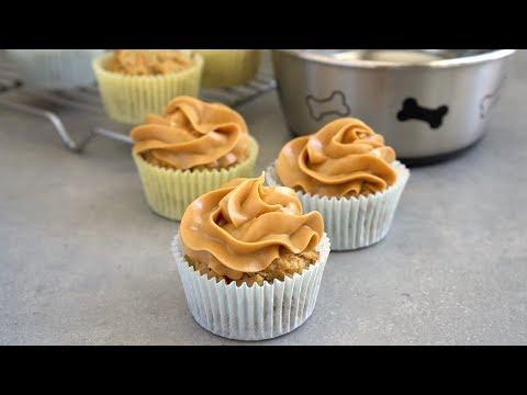 Peanut Butter Banana Pupcakes (Dog Cupcakes)