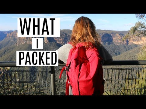 WHAT I PACKED FOR TWO WEEKS TRAVEL THROUGH AUSTRALIA
