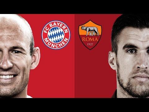 Robben & Strootman Google Hangout: FC Bayern Munich & AS Roma Digital Friendly