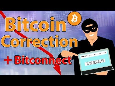 Bitcoin Correction + Bitconnect Shuts Down (Update)
