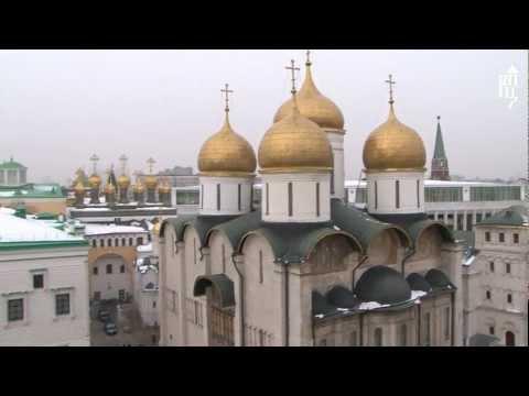 Патриарх совершил молебен в Успенском соборе Кремля