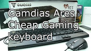 Gamdias Ares Review - Cheap RGB LED Multicolor Gaming Keyboard with built in 320K Memory ! [4K]