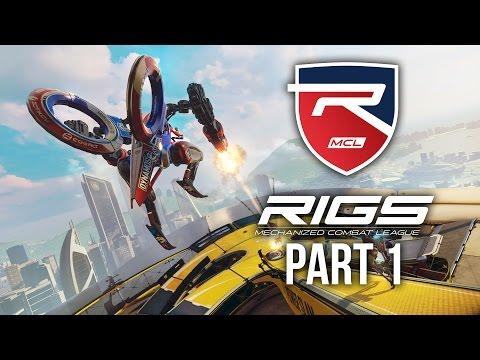 RIGS Gameplay Walkthrough Part 1 - ONLINE MULTIPLAYER VR (Playstation VR) #RIGS