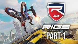 RIGS Gameplay Walkthrough Part 1 - ONLINE MULTIPLAYER VR (Playstation VR) #RIGS